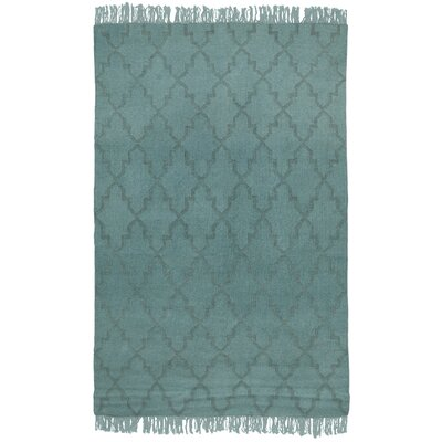 Amelia Overdyed Teal Indoor/Outdoor Area Rug Rug Size: 8 x 10