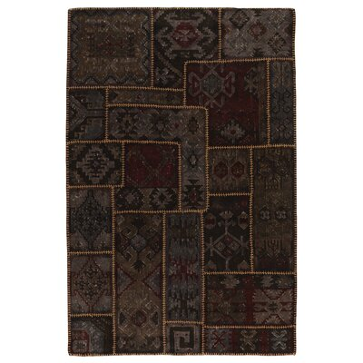 Lavaggio Coffee Patchwork Rug Rug Size: 5 x 8