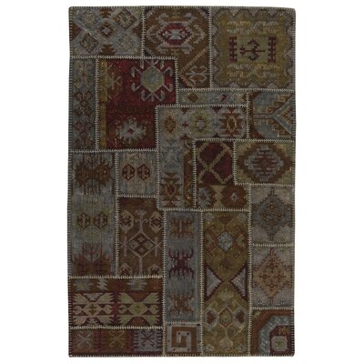 Lavaggio Charcoal Patchwork Rug Rug Size: 5 x 8