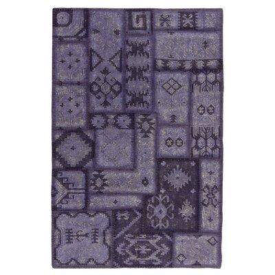 Annabelle Kilim Lavender Patchwork Area Rug Rug Size: 5 x 8