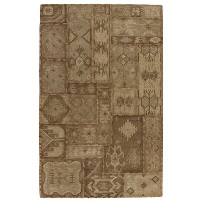 Annabelle Kilim Chocolate Patchwork Indoor/Outdoor Area Rug Rug Size: 5 x 8