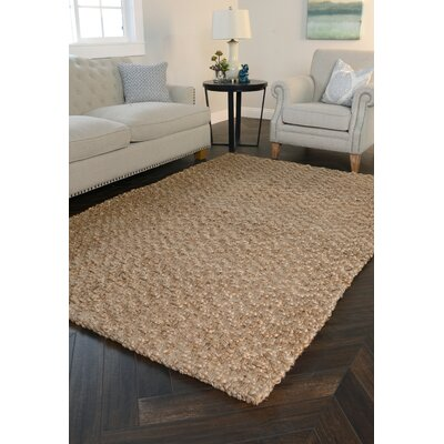 Chevron Gold Handspun Jute Area Rug Rug Size: Rectangle 9 x 12