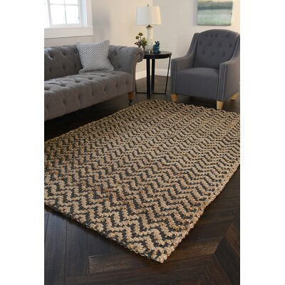 Chevron Gray Handspun Outdoor Area Rug Rug Size: 9 x 12