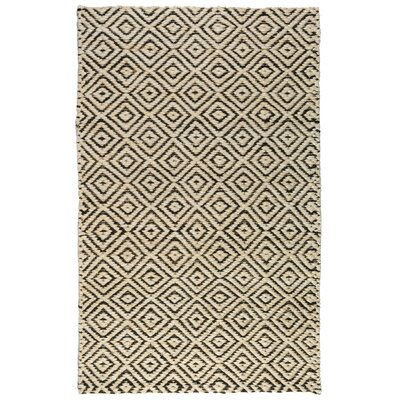 Cynthia Black/Ivory Indoor/Outdoor Area Rug Rug Size: 5 x 8