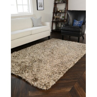 Scully Sand Shag Area Rug Rug Size: 5' x 8'