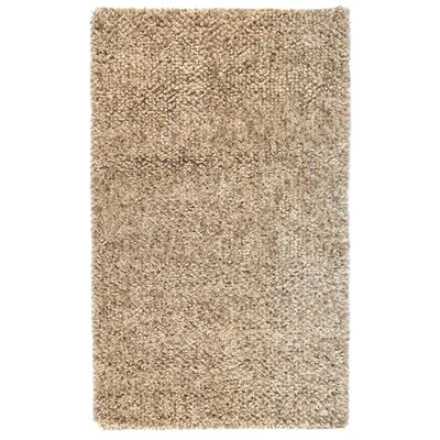 Guimauve Brown/Tan Solid Shag Latte Area Rug Rug Size: 2 x 3