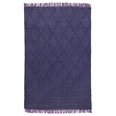 Amelia Flat Weave Purple Indoor/Outdoor Area Rug Rug Size: 4' x 6'