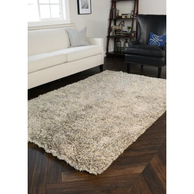 Elegante Hand-Woven Light Gray Area Rug Rug Size: 5 x 8