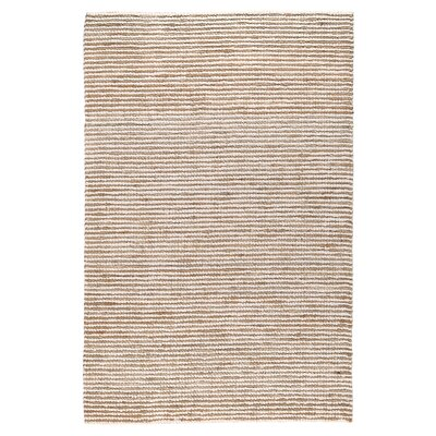 Kiti Hand-Woven Ivory/Natural Area Rug Rug Size: 5 x 8