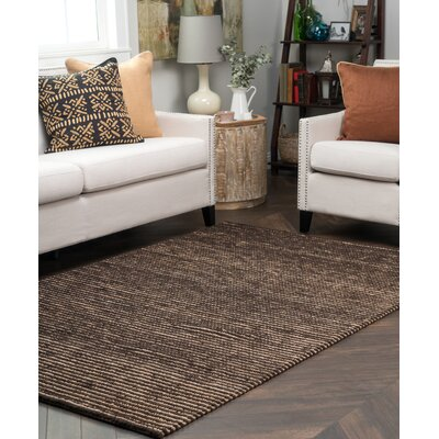 Valerie Hand Woven Cotton Black Pepper Area Rug Rug Size: 5 x 8