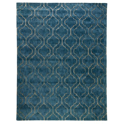 Trenton Hand-Tufted Blue Area Rug Rug Size: 8 x 10