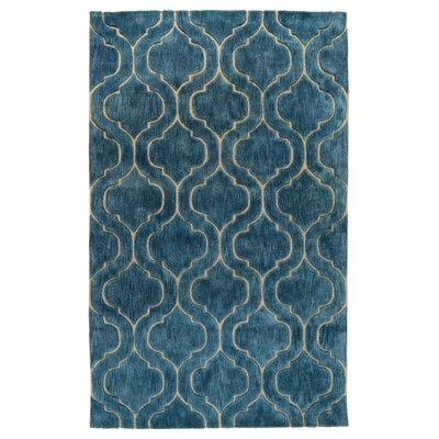 Trenton Hand-Tufted Blue Area Rug Rug Size: 5 x 8