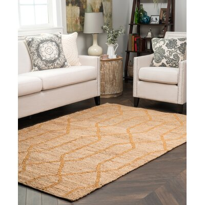 Kyra Gold Soumak Indoor/Outdoor Rug Rug Size: 8 x 10
