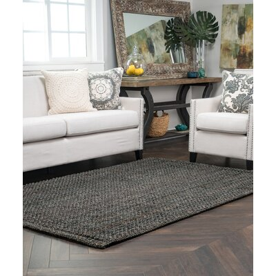Eva Charcoal Knobby Loop Indoor/Outdoor Area Rug Rug Size: 8 x 10