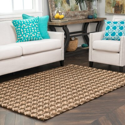Dogtooth Handspun Jute Brown Area Rug Rug Size: Rectangle 5 x 8