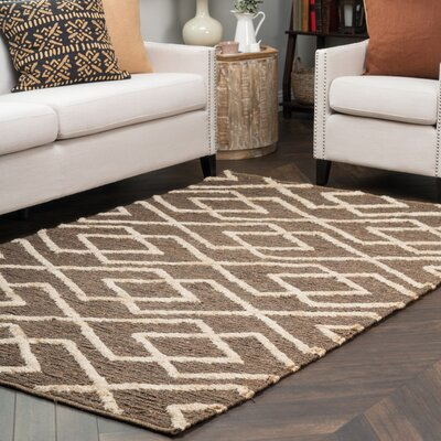 Athena Chocolate/Bleach Soumak Indoor/Outdoor Rug Rug Size: 5 x 8