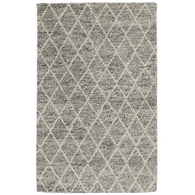 Landon Hand-Woven Gray Area Rug Rug Size: 5 x 8
