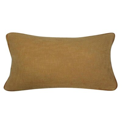 Fancy Cotton Lumbar Pillow Color: Mustard