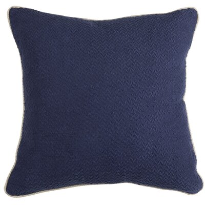 Atkinson Cotton Throw Pillow Color: Indigo