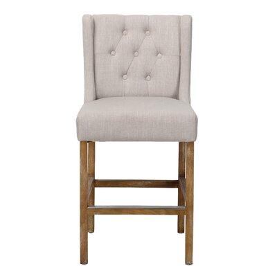 Adalynn 24 Bar Stool Upholstery: French Beige