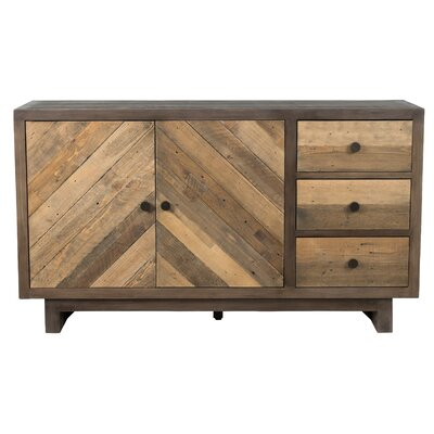 Brennan Reclaimed Pine 3 Drawer Sideboard