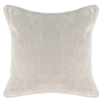Rollins Velvet Throw Pillow Color: Gray