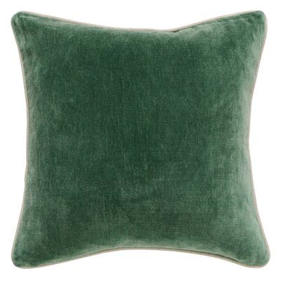 Vedika Velvet Throw Pillow Color: Hunter Green