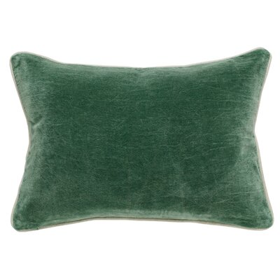 Rollins Velvet Lumbar Pillow Color: Hunter Green