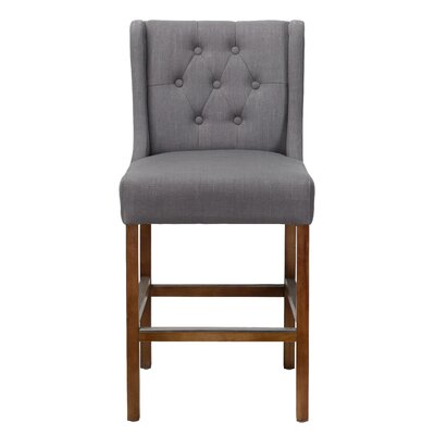 Adalynn 24 Bar Stool Upholstery: Gray