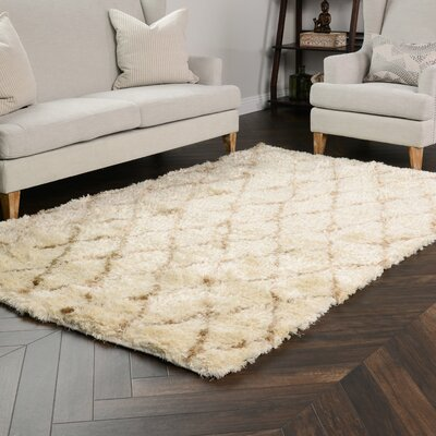 Denise Brown/Beige Area Rug Rug Size: 8 x 10