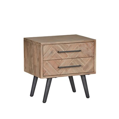 Toro 2 Drawer Nightstand