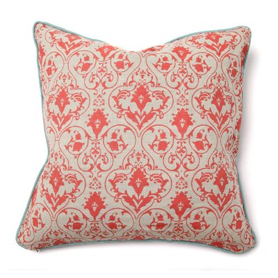 IIIusion Bellaporte Linen Throw Pillow Color: Red