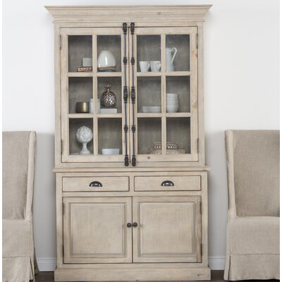 Elodie Solid Pine China Cabinet