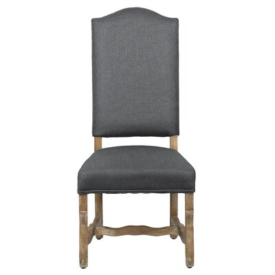 Casper Upholstered Dining Chair (Set of 2) Color: Steel Gray