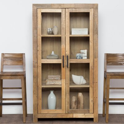Needham Curio Cabinet Color: Natural