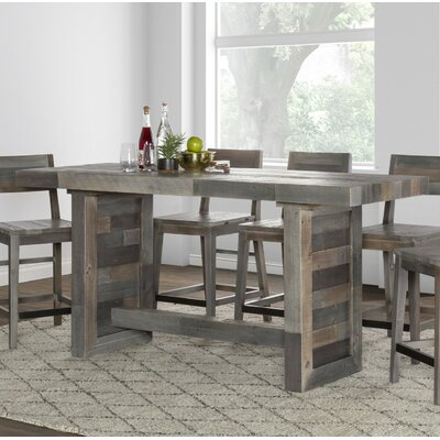 Needham Counter Height Dining Table Color: Charcoal