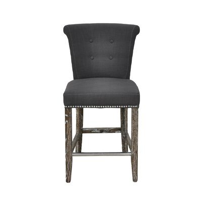 Rolo 30 Bar Stool with Cushion Color: Grey