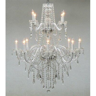 Jowers 12-Light Crystal Chandelier