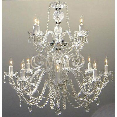 Alyce 12-Light Crystal Chandelier