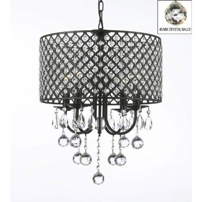 4-Light Drum Chandelier