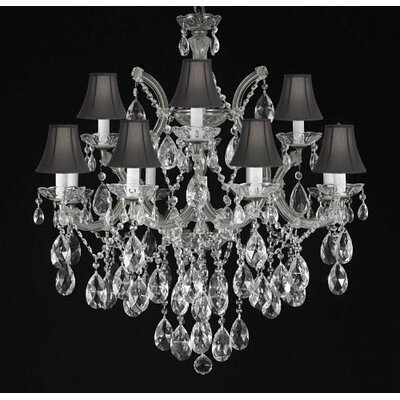 Alvarado 7-Light Crystal Chandelier Finish: Silver