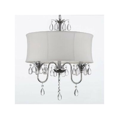 Barthelemy 3-Light Crystal Chandelier Plug-In Kit: Yes