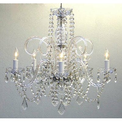 Meredith 5-Light Chain Crystal Chandelier