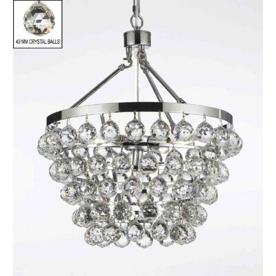 Kaczmarek 5-Light Crystal Chandelier