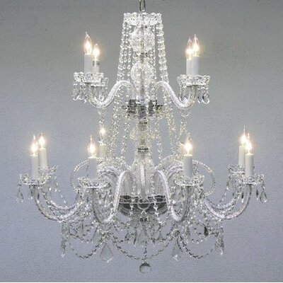 Jowett 12-Light Crystal Chandelier