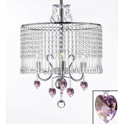 Juarez 3-Light Crystal Chandelier Plug-In Kit: No