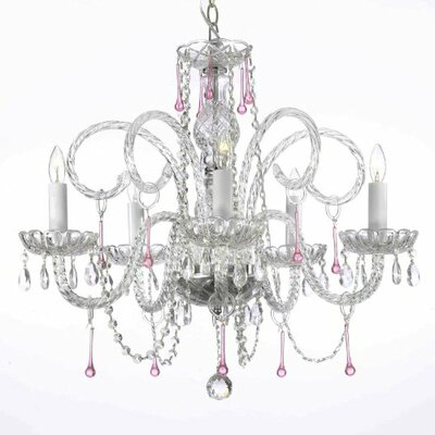 Justin 5-Light Crystal Chandelier