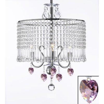 Juarez 3-Light Crystal Chandelier Plug-In Kit: Yes