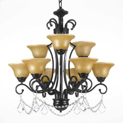 Alvan 9-Light Shaded Chandelier