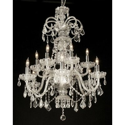 Royal 12-Light Crystal Chandelier